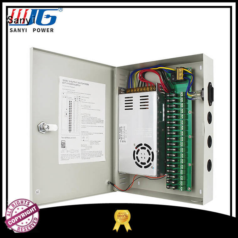 high quality cctv power supply box 12v durable Sanyi