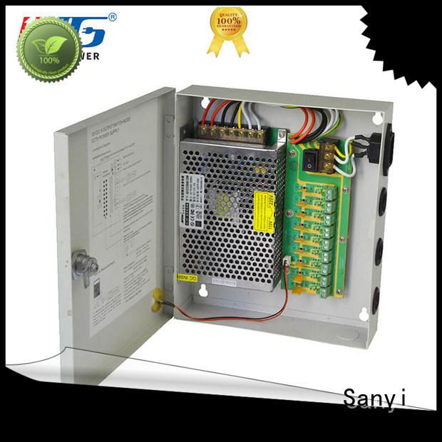 Sanyi durable 24vac security camera power supply long lifespan for illuminator