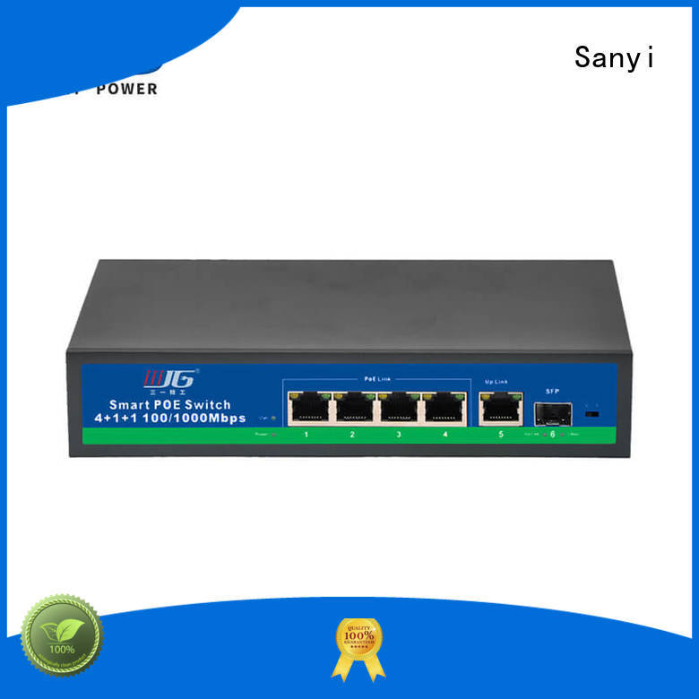 Sanyi Best poe switch 4 port high quality for electronics