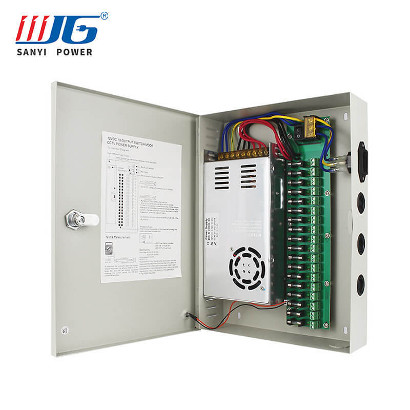150W 12V CCTV Power Supply Box 18road for Security System and Cameras
