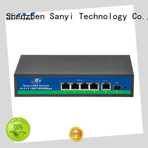 top brand poe network switch high quality for camera Sanyi