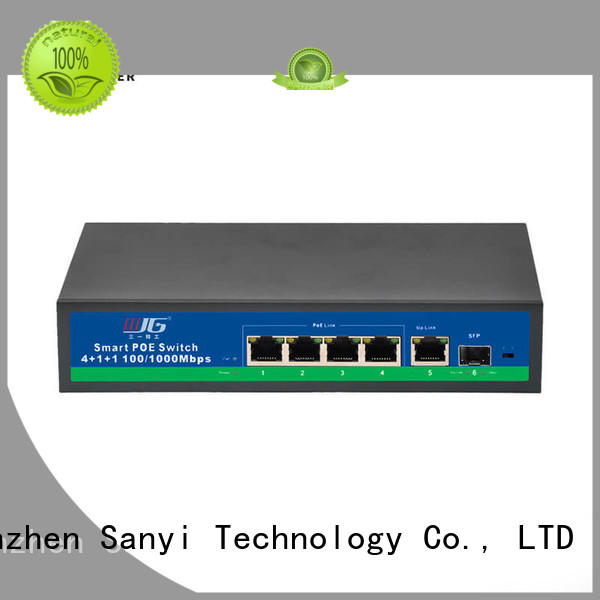 high rated poe switch 8 port switch free sample for cctv