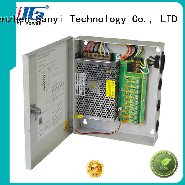 Sanyi durable 8 channel cctv camera power supply output for illuminator