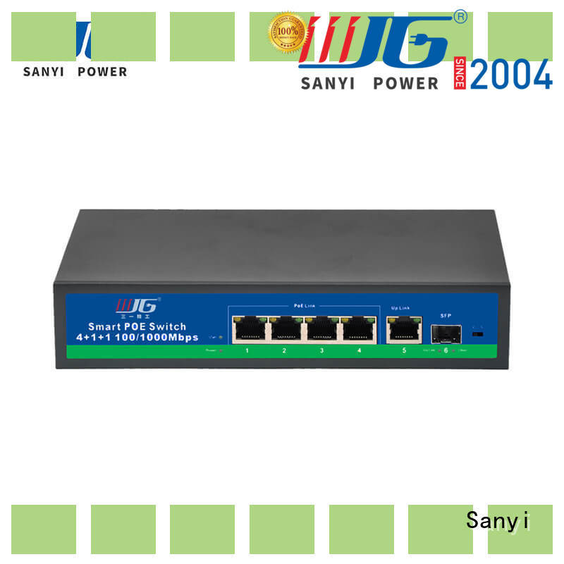 Sanyi universal 24 port poe switch factory price for camera