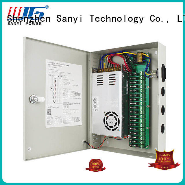 Sanyi Latest 8 channel cctv camera power supply distribution box long lifespan for illuminator