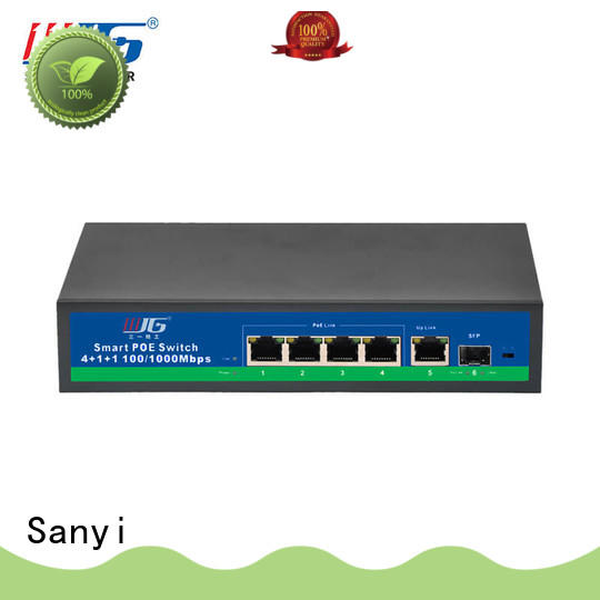 Sanyi hot-sale poe switch 4 port best price for electronics