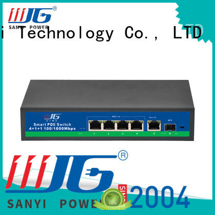 Sanyi network poe switch 4 port factory price for digital device
