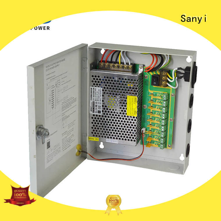 Top bipolar power supply durable box support for camera