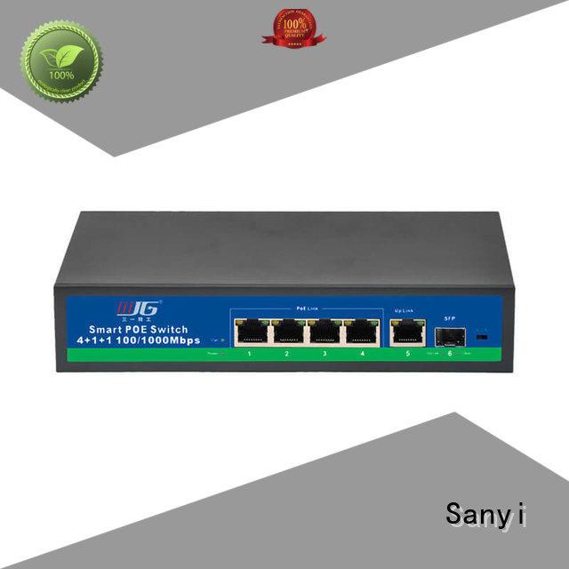 16 port poe switch hot-sale for electronics Sanyi