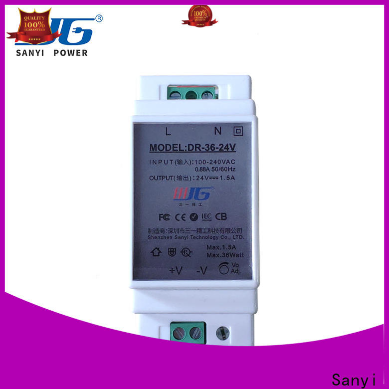 Sanyi High-quality din rail power supply 24vdc high quality for dc