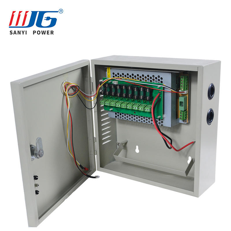 12V 120W Power Supply 9 Channel Output CCTV Electrical Box