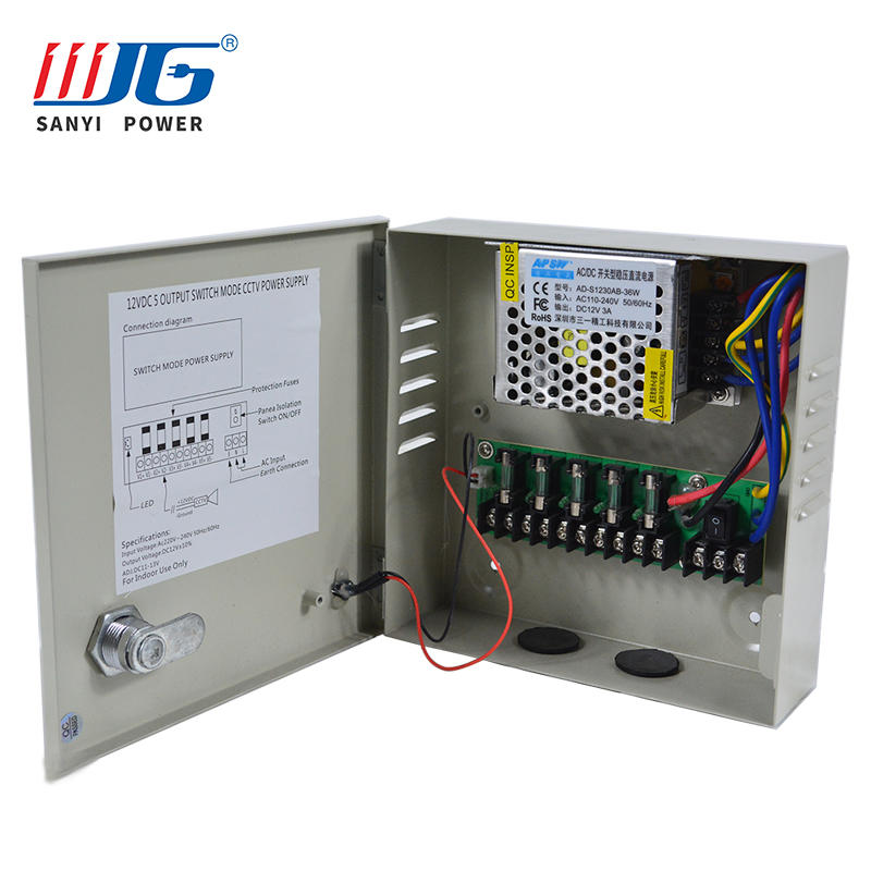 5 road output 60W monitoring power centralized power supply box