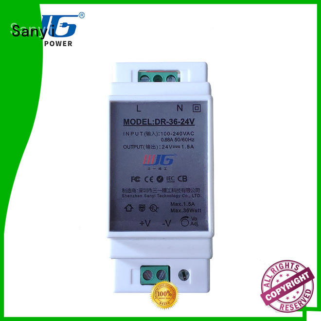 Sanyi automation din-rail power supply cheap factory price for equipment