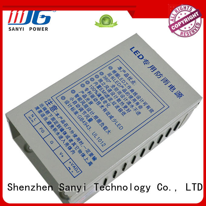 Sanyi aluminum led light power supply power box for led