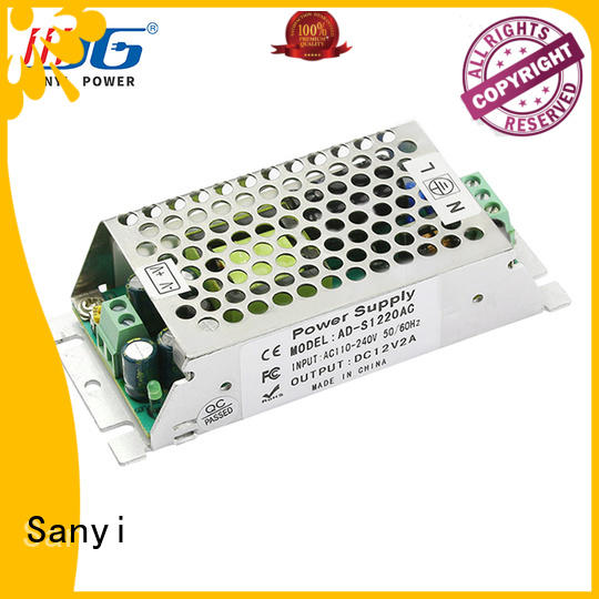 Sanyi top brand 12v dc switching power supply manufacturers for camping