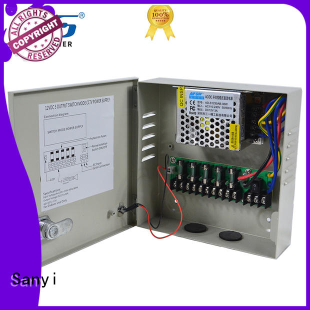 Sanyi outdoor camera power supply 12vdc output cctv