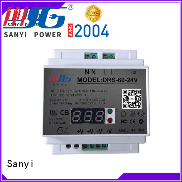 Sanyi power din rail power supply 24vdc high quality for equipment
