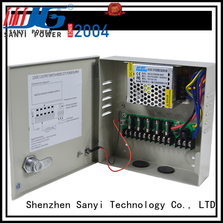 Sanyi electrical camera power supply 12vdc output for camera