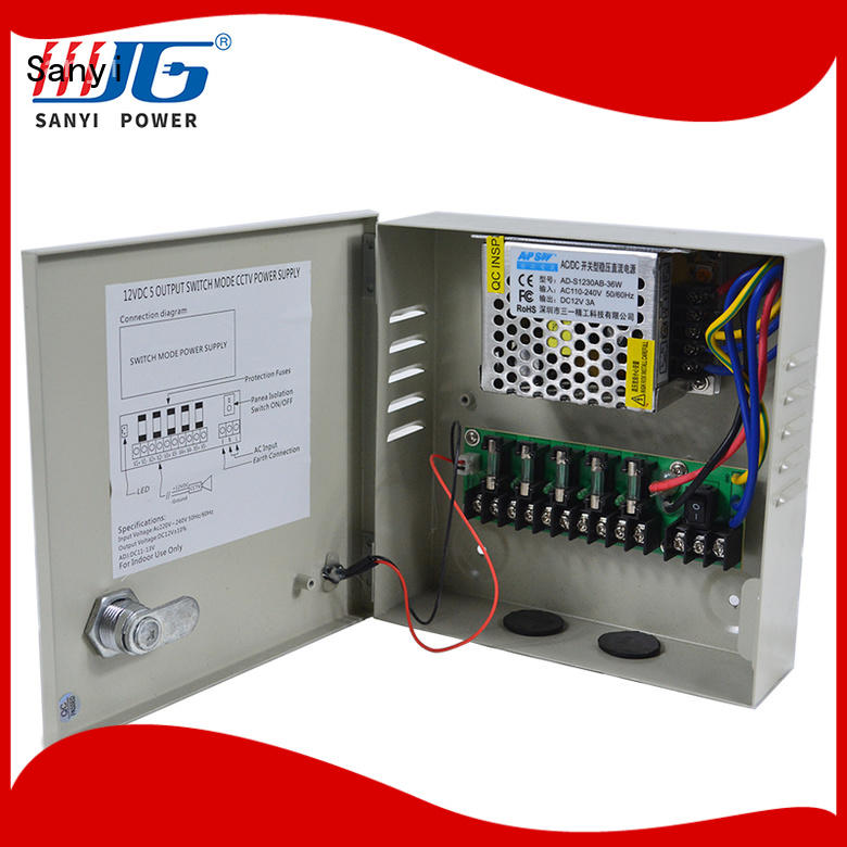 cctv camera power supply distribution box high-end for camera Sanyi