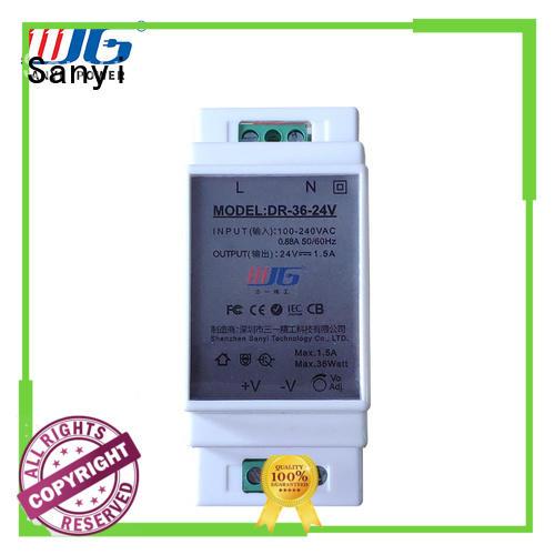 power din rail power supply 24vdc equipment for equipment Sanyi