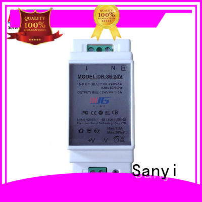 Sanyi dc din rail power supply 24vdc cheap factory price for dc